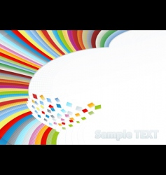 rainbow corner element vector image