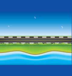 Road near sea vector