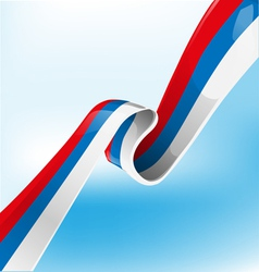 russian ribbon flag vector image