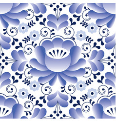 Russian seamless folk pattern traditional design vector
