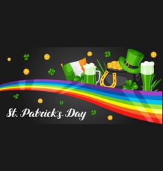 saint patricks day banner vector image