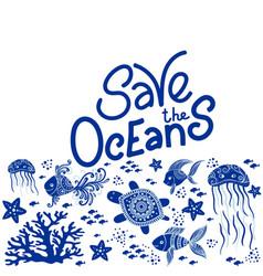 save ocean vector image