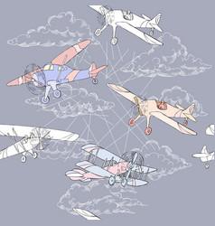 Seaml colors airplanes-15 vector
