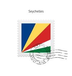 Seychelles Flag Postage Stamp vector