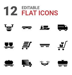shipment icons vector image