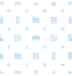 Skyscraper icons pattern seamless white background vector