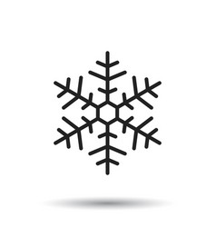 Snowflake icon in flat style isolated on white vector