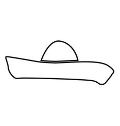 Sombrero black color icon vector