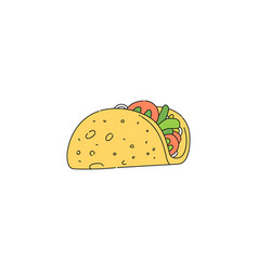 taco drawing isolated on white background vector image