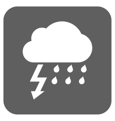 Thunderstorm flat squared icon vector