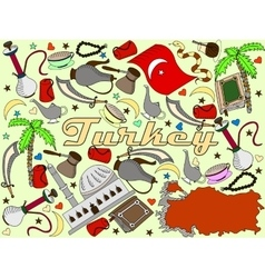 Turkey line art design vector image