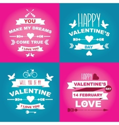 Valentines Day set of symbols vector image