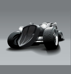 Vintage hot rod custom black classic car vector