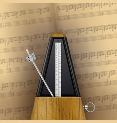 vintage swinging metronome vector image