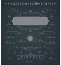 Vintage Swirls Ornaments Decorations Design vector image