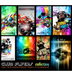 Club Flyers ultimate collection - High quality vector image vector image