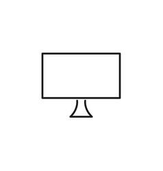 monitor line icon vector image vector image