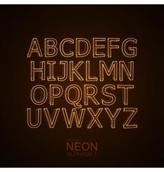 Neon 3D alphabet set vector image vector image