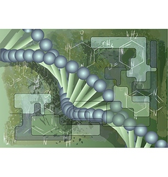 scientific background with dna vector image