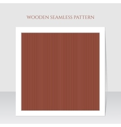 Seamless brown wooden lines texture vector image