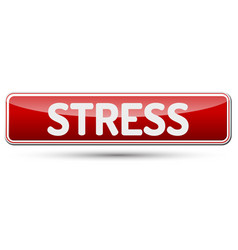 stress - abstract beautiful button with text vector image vector image