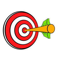 target with arrow icon cartoon vector image vector image