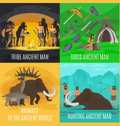 ancient prehistoric stone age concepts vector image vector image