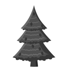Fir tree icon gray monochrome style vector image vector image