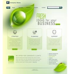 green website vector image