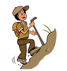 hiker vector image vector image