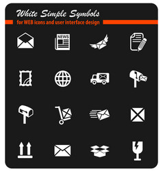 post service icon set vector image