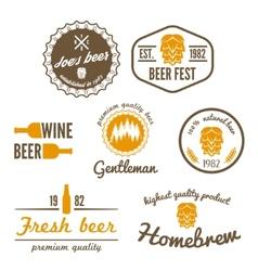 Set of vintage logo badge emblem or logotype vector image