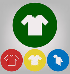 t-shirt sign 4 white styles vector image vector image