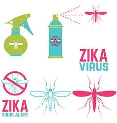 Zika virus alert Set of design elements vector image vector image