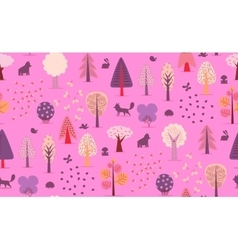 Forest trees seamless pattern vector image vector image