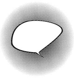 Speech Bubble on Black Pop Art Background vector image vector image