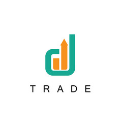 trade business logo vector image