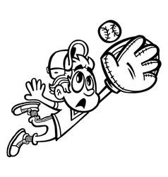 Baseball Player Kid cartoon vector image vector image