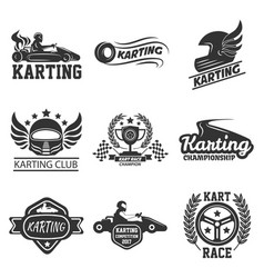 karting club or kart races sport template vector image