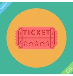 Retro cinema ticket - vector image