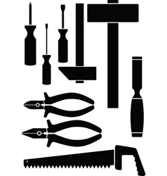 set of the hand tool vector image