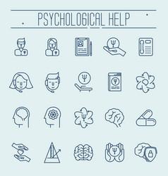 set symbols of psychological help vector image vector image