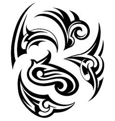 Tribal tattoo design set vector image vector image