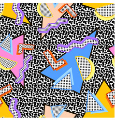 80s memphis pattern vector image