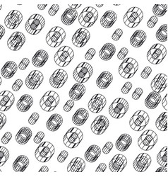 abstract 3d seamless pattern vector image