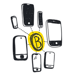 abstract bitcoin technology vector image
