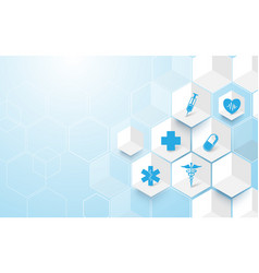 Abstract medicine and science concept background vector