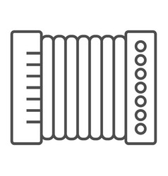 Accordion thin line icon musical and instrument vector
