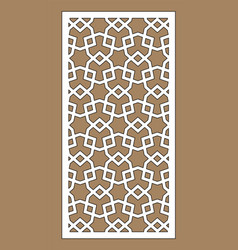 Arabic geometric cnc panel laser cutting vector
