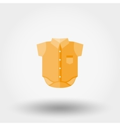 Baby shirt icon vector image
